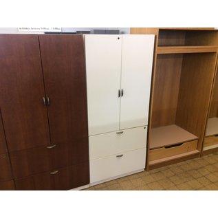 "25x30x67"" Wood White 2door/2drawer cabinet (1/21/2020)"