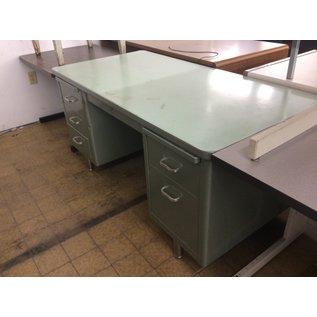 """30x60x29"""" Green Steelcase Desk (8/21/2020)"""