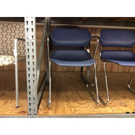 Blue plastic seat metal frame side chair (1/30/2020)