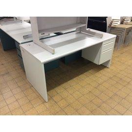 """30x66x29 2/4"""" Lt gray R/ped desk (2/4/2020)"""
