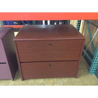"24x36x29 1/2"" Cherry wood 2dr lateral file cabinet (2/12/2020)"