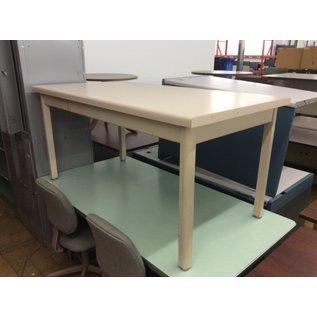 "32x62x29 1/2"" Steelcase beige metal table (2/13/2020)"