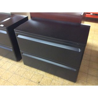 """20x35 1/2x26 3/4"""" Black 2dr lateral file cabinet (2/13/2020)"""