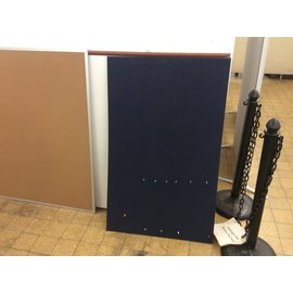 "30x48"" Blue bulletin board. (2/19/2020)"