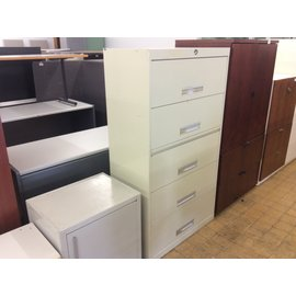 "18x36x63 1/2"" Beige 5dr lateral file cabinet (2/19/2020)"