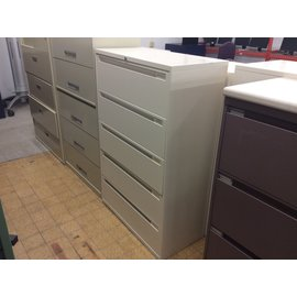 "18x36x55 1/2"" 5dr White lateral file cabinet (2/20/2020)"