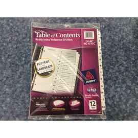 Table of contents - 12 tabs (2/27/2020)