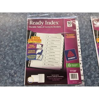 Ready Index Dividers - 10 tabs (4/23/2020)
