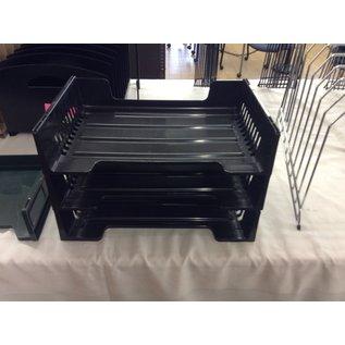 Black plastic 3 tier paper tray (3/11/2020)