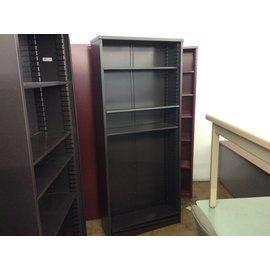 "12x36x84"" Dk brown metal bookcase (3/12/2020)"