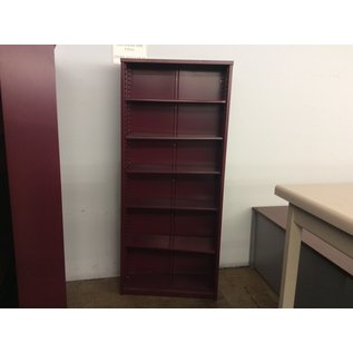"""12x36x84"""" Red metal Bookcase (3/112/2020)"""