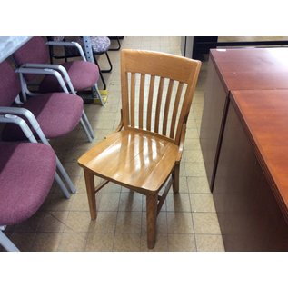 Wood slat back student desk chair (10/21/2020)