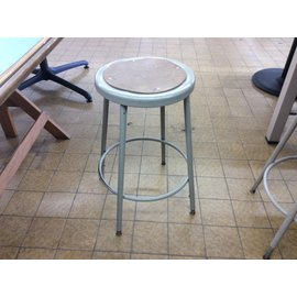 Beige metal adjustable height lab stool (3/12/2020)
