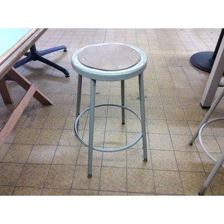 Beige metal adjustable height lab stool (3/12/2020)