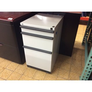 "15x19 1/2x27 1/2"" Lt gray 3 drawer file cabinet (3/12/2020)"