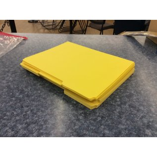 Yellow 42 pack file folders - New (3/17/2020)