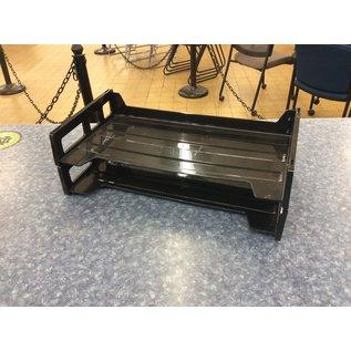Black plastic 2 tier legal paper tray (3/17/2020)