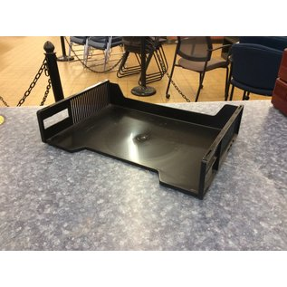 Black plastic single paper tray (3/17/2020)
