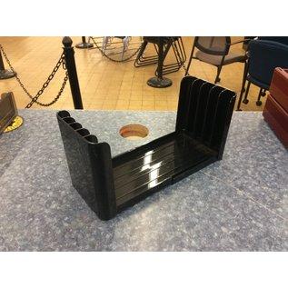 5 slot black plastic file organizer (3/17/2020)