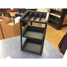 "9x10 1/2x18"" Black plastic countertop shelf unit (3/20/2020)"