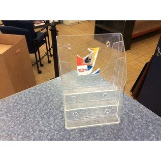 Clear plastic 3 tier magazine holder (3/20/2020)