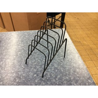 Black metal wire 6 slot metal letter holder (3/20/2020)