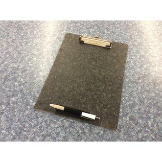 8 1/2x11 Clear black plastic clip board (3/23/2002)