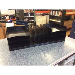 Black metal 5 slot/6 tier file/paper organizer (3/23/2020)