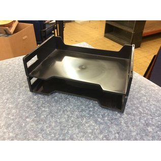 Black plastic 2 tier paper tray (3/23/2020)