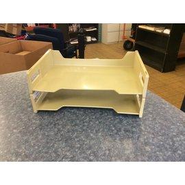 Beige plastic 2 tier paper tray (3/23/2020)