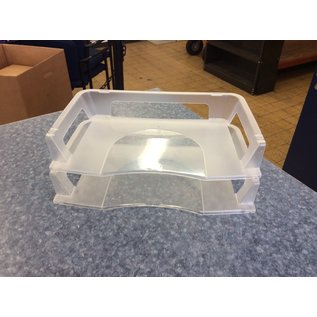 Clear plastic 2 tier paper tray (3/23/2020)