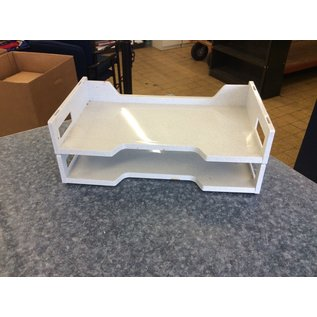 Lt gray plastic 2 tier legal size paper tray (3/23/2020)