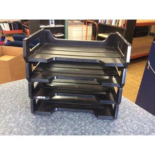 Black plastic 4 tier paper tray (3/23/2020)