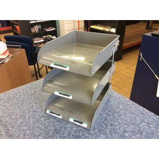 Gray metal 3 tier paper tray (7/2/2020)