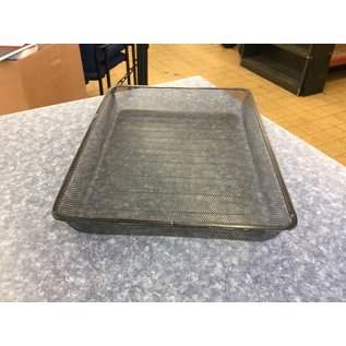 Black metal mesh single paper tray (3/23/2020)