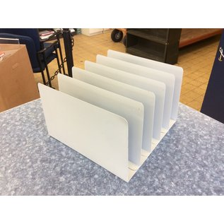 Lt gray metal 5 slot file sorter (3/23/2020)