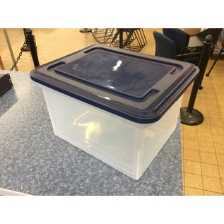Plastic stackable file box w/lid (4/15/2020)