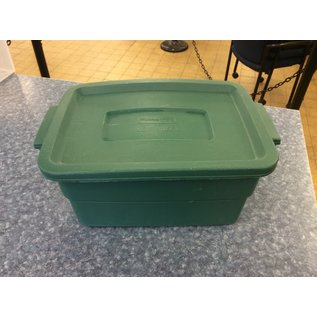 Small Green Rubbermaid storage container (4/15/2020)