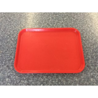 Red plastic serving tray  (4/15/2020)