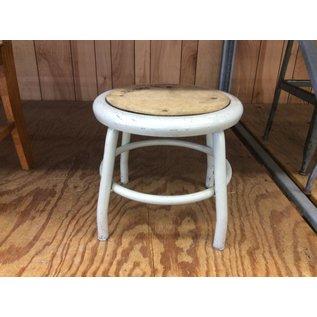 """12 1/2"""" Beige metal stool (4/20/2020)"""