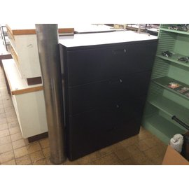 """19 3/4x41 1/2x51 1/2"""" Black 4 drawer lateral file cabinet (4/21/2020)"""