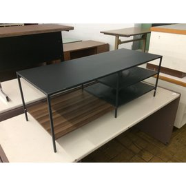 "19 1/2x48x17 1/2"" Gray metal coffee table (4/21/2020)"