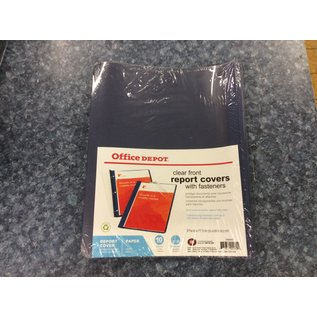 Blue Clear Front Report Covers w/fasteners 10pk-New (4/23/2020)