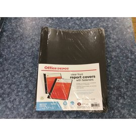 Black Clear Front Report Covers w/fasteners 10pk-New (4/23/2020)