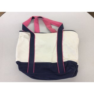 Blue/pink/white canvas book bag (4/24/2020)