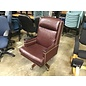 Maroon leather high back Exc. chair (8/17/2020)
