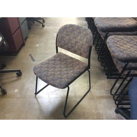 Blue/gold pattern metal frame stacking chair (08/20/2020)