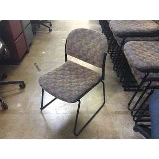 Blue/gold pattern metal frame stacking chair (08/20/2020)