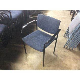 Blue metal stacking chair w/arms (8/20/2020)