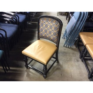 Gold pattern wood frame dining chair (8/20/2020)